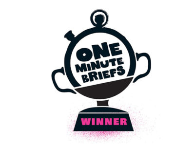 OneMinuteBrief Winner Badge by Hairyhand