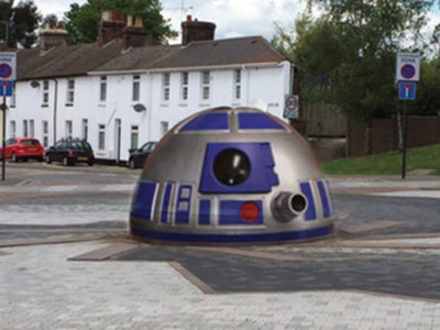 Starwars roundabout R2D2