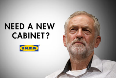 jeremy corbyn new cabinet spoof ikea advert